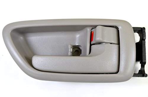 PT Auto Warehouse TO-2901G-RS - Inside Interior Inner Door Handle/Trim, Gray (Charcoal)- Crew Cabs, Passenger Side ()