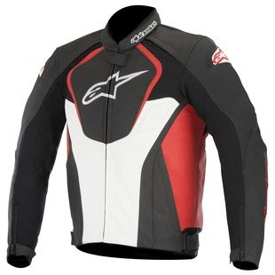 Alpinestars Jaws Perforated Leather Jacket (52) (Black/White/Red)