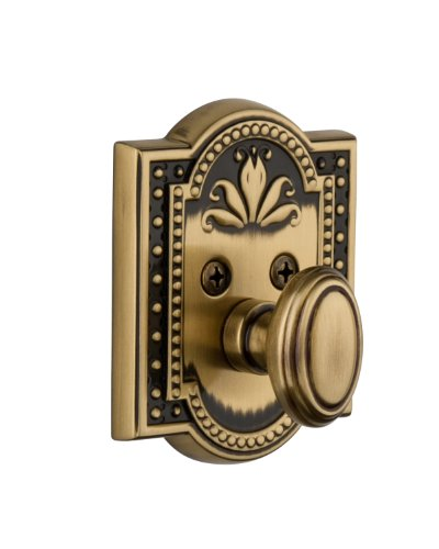 - Grandeur Parthenon Single Cylinder Deadbolt, Vintage Brass
