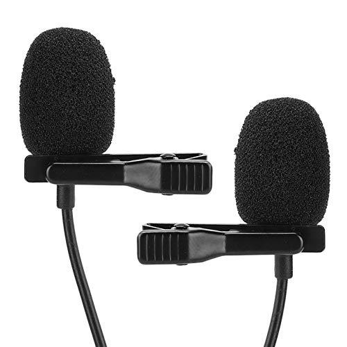 Mini lichtgewicht metalen dasspeld Microfoon voor mobiele telefoon Dubbele microfoon, voor camera's, voor camcorders