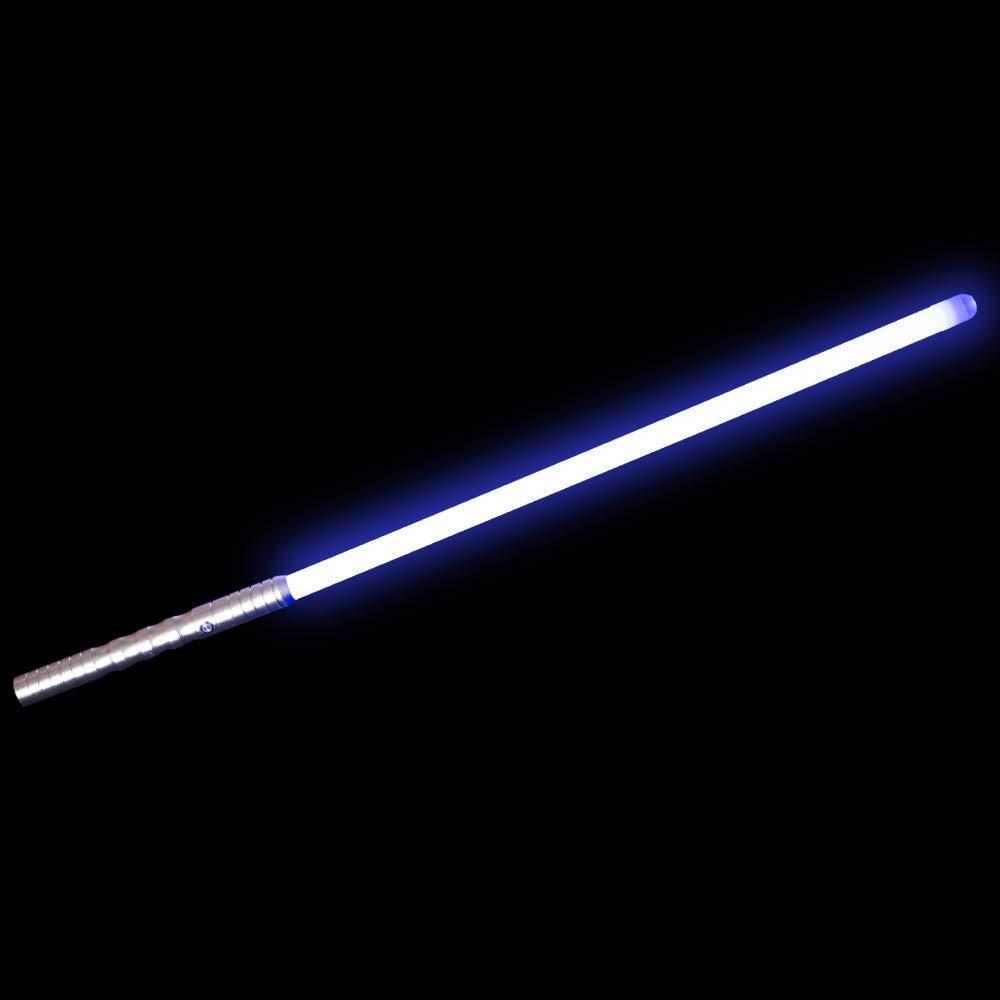 YDD Dueling Light Saber,Star Wars Black Series Lightsaber, Realistic Flashes,USB Charging,Detachable (Silver Hilt Blue Blade)