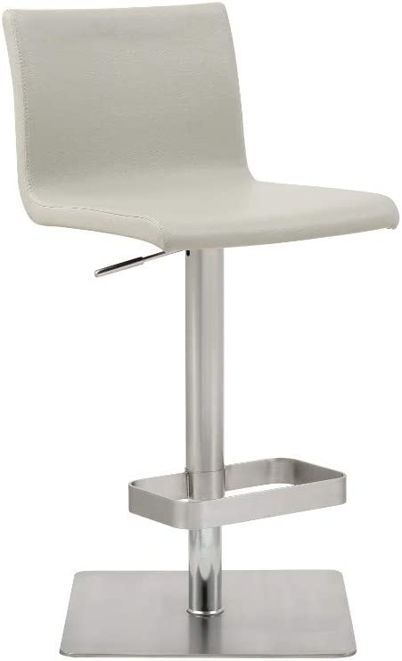 Whiteline Modern Living Watson Bar Stool Light Grey