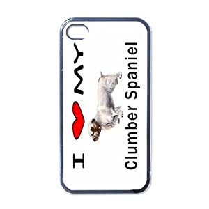 I Love My Clumber Spaniel Black Iphone 4 and Iphone 4s Case 4