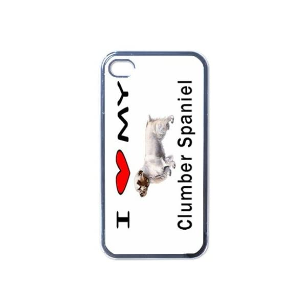 I Love My Clumber Spaniel Black Iphone 4 and Iphone 4s Case 1