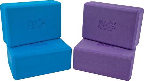 Body Sport Foam Yoga Block 3 x 6 x 9-Inch, Blue
