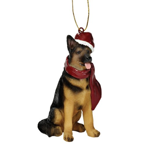 Christmas Ornaments - Xmas German Shepherd Holiday Dog - Sculpture Shepherd German