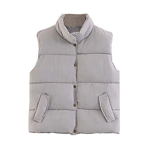 Jacket Donna Alla Grigio pantaloni Casual Moda Coat Pocket Esterno Vest Giacca Da Collo Con qzRCCfa