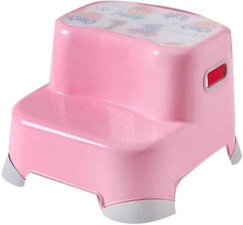 ZZF Taburete Pequeño De Plástico para Niños, Escalera para Lavamanos para Bebés, Niños, Baños, Baños, Cocina, Rosa,B: Amazon.es: Hogar