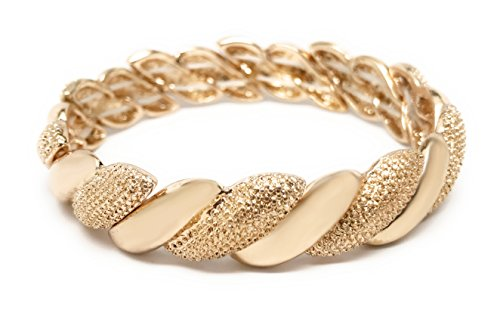 Loviea Double Twist Bangle Bracelet (Gold)