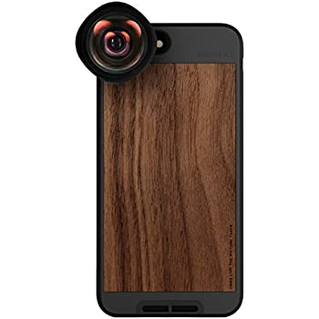 iPhone 8 Plus / iPhone 7 Plus Case with Wide Lens Kit || Moment Walnut Wood Photo Case plus Wide Lens || Best iphone wide attachment lens with thin protective case.