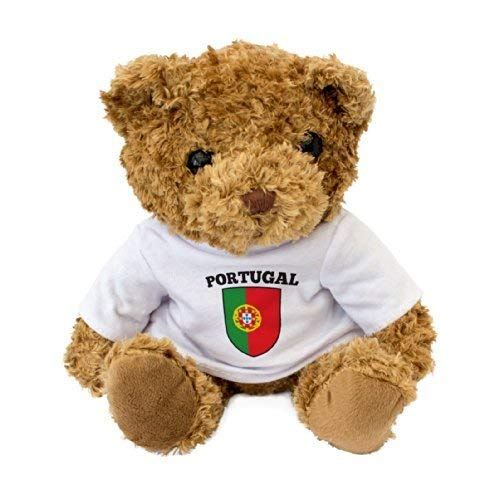 (NEW - Portugal Flag Teddy Bear - Portuguese Fan Gift Present)