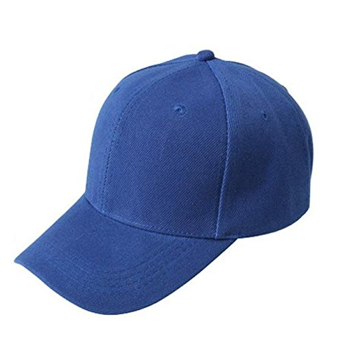 Quaanti Clearance Price!Unisex Baseball Cap Outdoor Sports Blank Hat Solid Color Adjustable Hat  (Blue)