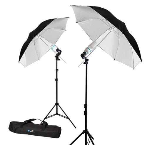 Photography Video Photo Studio 40'' Double Layer Black & White Umbrella Lighting Kit, LimoStudio by LimoStudio