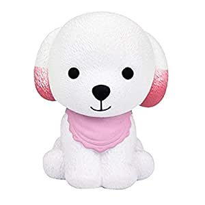 Livoty Jumbo Squishy Puppy Scented Cream Slow Rising Squeeze Decompression Toys (Pink)