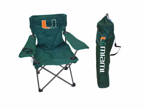 Rivalry NCAA Miami Hurricanes Youth Folding Chair With Carrying Case Hurricane Sunbrella