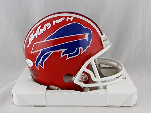 Andre Reed Autographed Buffalo Bills Red Mini Helmet W/HOF- JSA W Auth White ()