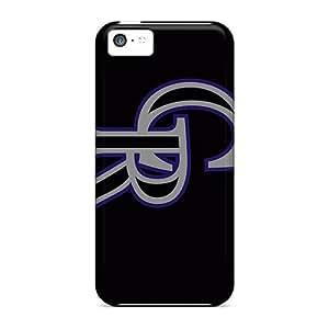 Cute Appearance Cover/tpu RAnMuFQ3860ZoaBF Colorado Rockies Case For Iphone 5c