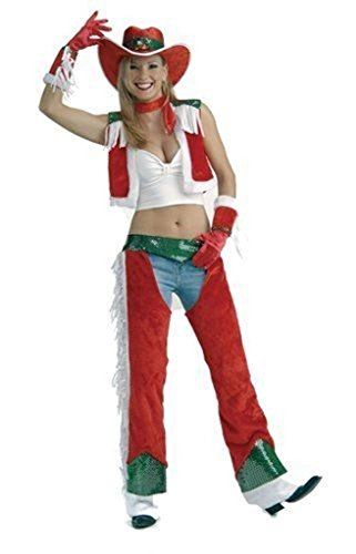 Cowgirl Outfit Sexy (Forum Novelties Women's Sexy Christmas Cowgirl Costume, Multi,)