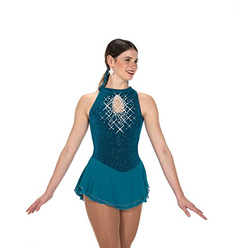 Jerry's Ice Skating Dress - 233 Sparkle & Splendour Dress (Turquoise, Size 12-14) ()