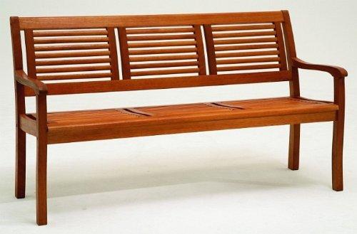 Gartenbank 3-Sitzer Eukalyptus-Holz