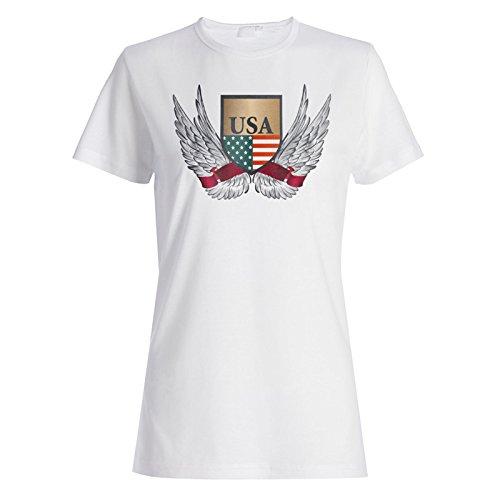 Vereinigte Staaten Usa Flag Neuheit Lustig Damen T-shirt a856f