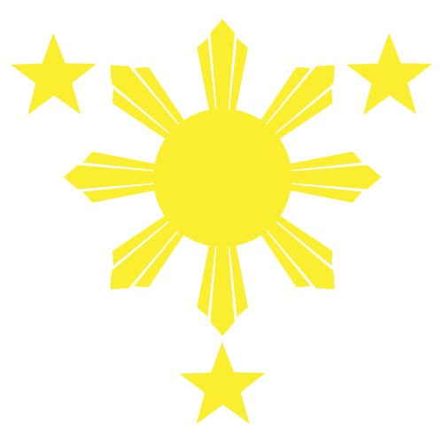 Philippines Flag 1 Sun And 3 Stars Logo Filipino Decal