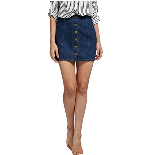 Blue Plaid Seersucker Skirt - 9