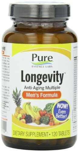 Pure Essence Labs Longevity Men's Formula - Anti Aging Multiple - 120 Tablets