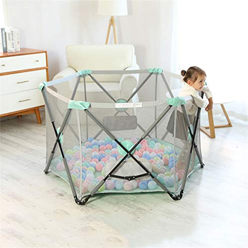 Playpen Tent Baby Safety Gate Portable & Travel Kids Ball Pit Playpen Ball Pool,Indoor and Outdoor Easy Folding Play House Play Space for Children Baby (Excluding The Ball) by CGF- Baby Playpen (Image #7)
