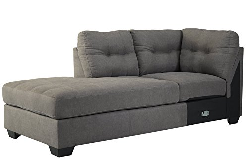 Benchcraft 4520016 Maier Left Arm Facing Corner Chaise Charcoal