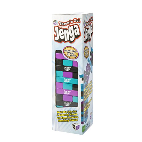 Jenga Throw-N-Go The Toppling Tower with a