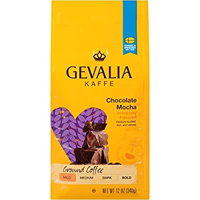 Gevalia Chocolate Mocha Flavored Coffee, Mild Roast, Ground, 12 Ounce Bag