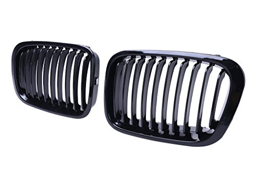 Price comparison product image Jade Onlines Gloss Black Front Center Kidney Grille Grilles Grill Hood Nose for BMW 1998-2001 E46 Sedan 4 Door