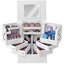 Cosmetic Makeup Organizer Countertop Case with Drawers Mirror Tower Deluxe by Lori Greiner