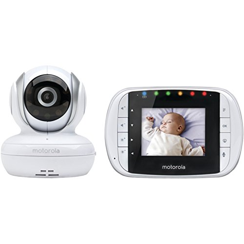 Motorola MBP33S Wireless Video Baby Monitor with 2.8-Inch Color LCD, Zoom and Enhanced Two-Way Audio