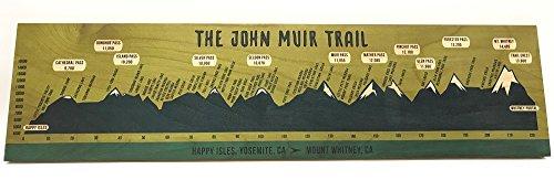 John Muir Trail Birch Plywood Trail Sign