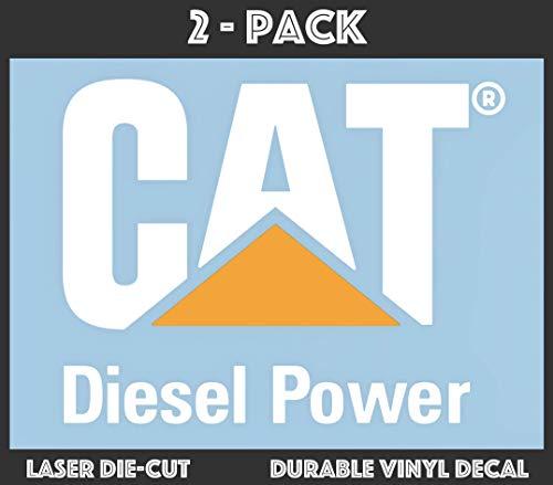 (Qty 2 - CAT Caterpillar Diesel Power Die-Cut Vinyl Transfer Decal (7.05