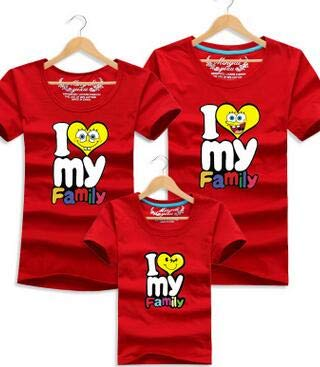 e594eb782 I Love My Family Funny T Shirt Father Mother Daughter Son T Shirts Family  Matching Outfits Summer Kids Clothes for Boys Girls : Gold, MOM S:  Amazon.in: Baby