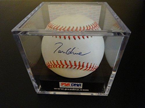 Atlanta Braves Tom (TOM GLAVINE SIGNED AUTO ATLANTA BRAVES BASEBALL PSA CASED #Q62884 AUTOGRAPHED)
