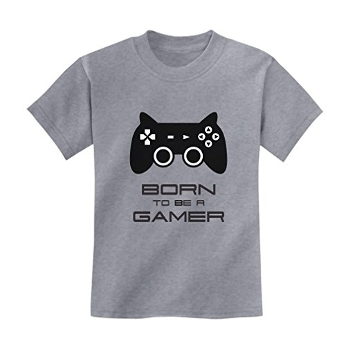 Price comparison product image TeeStars - Born To Be a Gamer Cute Children Future Gamer Funny Kids T-Shirt Large Gray