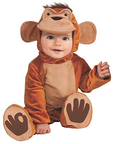 Rubie's Cuddly Jungle Funky Monkey Romper Costume, Tan,