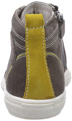 Richter Kinderschuhe Mose  6242-521 - zapatillas deportivas altas de cuero niño gris - Grau (pebble/pineapple  6611)