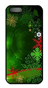 Colorful Christmas Decoration 2 for cheap iphone 5S case PC Black for Apple iPhone 5/5S
