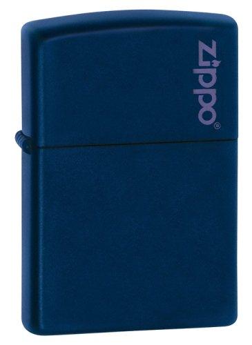 Zippo Navy Blue Matte Lighter w/ Zippo Logo - 239ZL