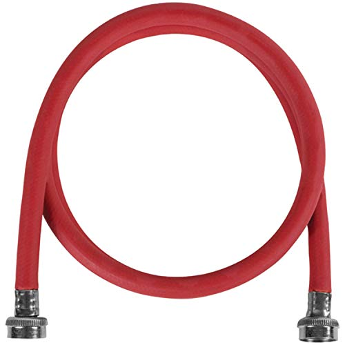 Certified Appliance Accessories Red WM48RDR EPDM Washing Machine Hose, 4ft