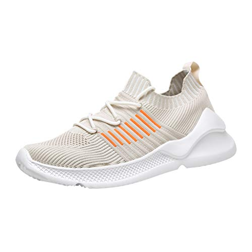 de1b9f22d391 JJHAEVDY Men's Knit Mesh Breathable Comfortable Sneakers Lightweight  Athletic Tennis Walking Running Shoes
