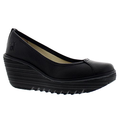Fly London Womens Yerb 775 Leather Shoes Black