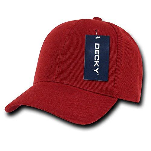 DECKY Fitted Cap, Cardinal, 7 1/4