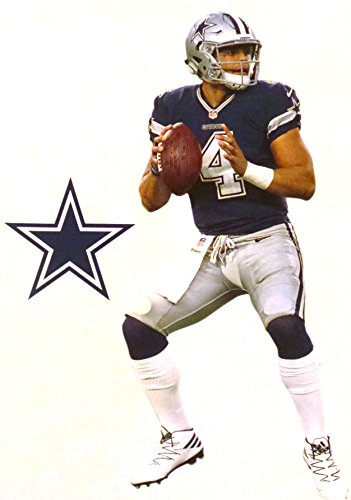 Dak Prescott Mini FATHEAD + Dallas Cowboys Logo Official NFL Vinyl Wall Graphics 7