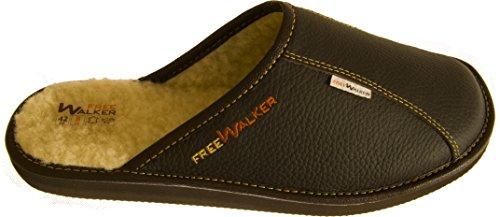 FreeWalker - Zapatillas de estar por casa para hombre marrón - marrón